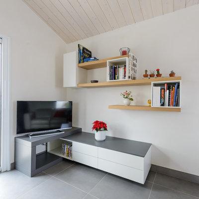Contemporain Salon by Macoretz Agencement