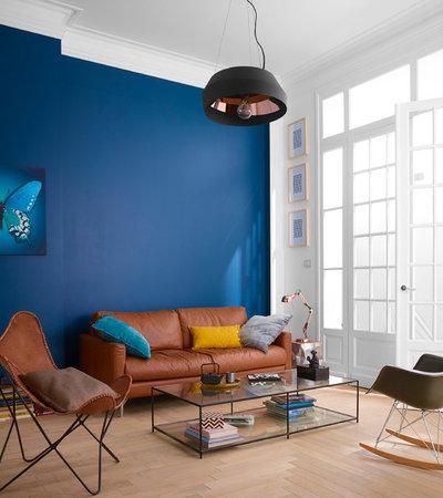 contemporain salon by castorama - Salon Bleu Turquoise Et Marron