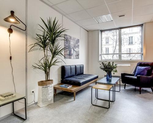 photos et id es d co de pi ces vivre scandinaves avec b ton au sol. Black Bedroom Furniture Sets. Home Design Ideas