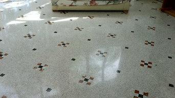 Sols à la Vénitienne, en terrazzo et mosaïques traditionnelles de marbres