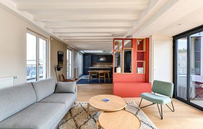 Avant/Après : Une grande pièce à vivre structurée avec caractère