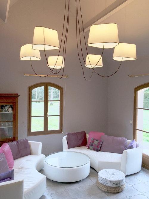 suspension xxl dans un salon. Black Bedroom Furniture Sets. Home Design Ideas