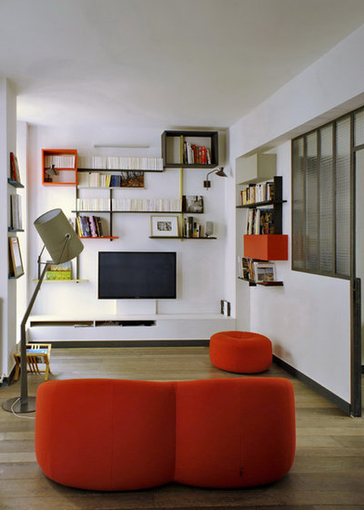 Eclectic Living Room by MOC, Maisons Objets & Chantiers
