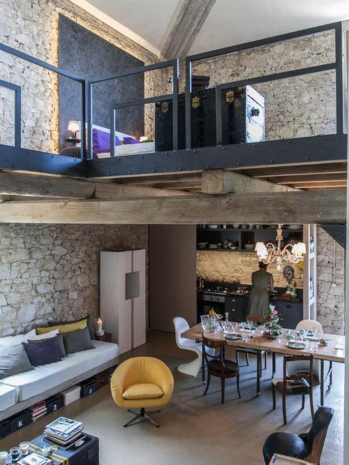 Wohnideen f r landhausstil wohnzimmer im loft style for Wohnideen loft style