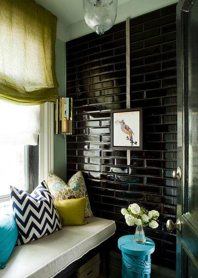 Transitional Living Room by Jean Stephane Beauchamp Design
