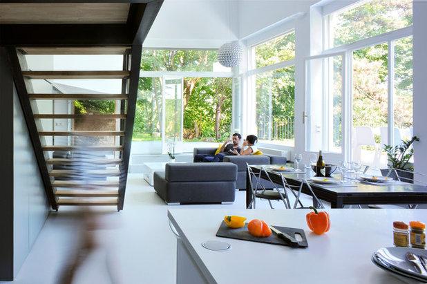 Contemporain Salon by Dank Architectes
