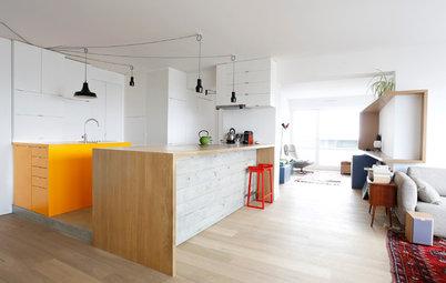 Ugens køkken: Beton, træ og orange detaljer i Paris