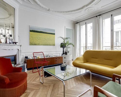 salon avec une chemin e d 39 angle photos et id es d co de salons. Black Bedroom Furniture Sets. Home Design Ideas