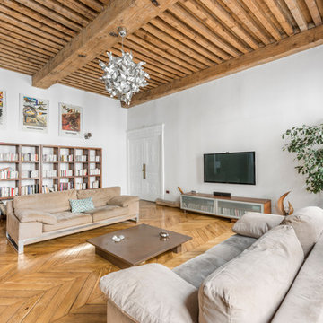 Un salon contemporain à Lyon