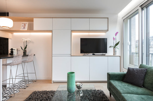 Skandinavisch Wohnbereich by Emilie Melin architecte DPLG