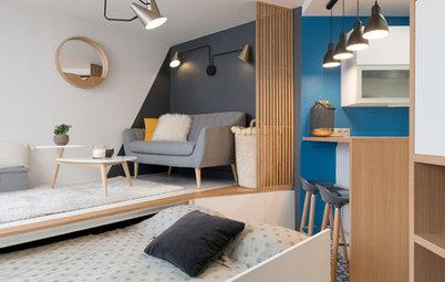 20㎡でも快適。引き出し式ベッドのある、パリ近郊のリノベーション