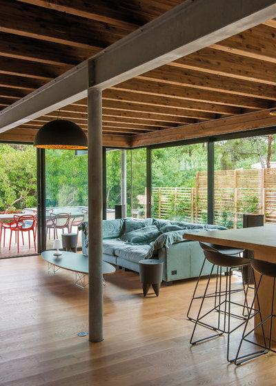 Contemporain Salon by Teisseire Dumesnil architectes + associés