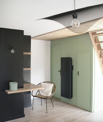 Contemporain Salon by Manon Papin   Architecte d'Intérieur