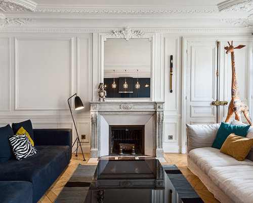 salon avec chemin e photos et id es d co. Black Bedroom Furniture Sets. Home Design Ideas