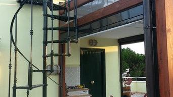 Casa ad Anzio - Scala a chiocciola esterna
