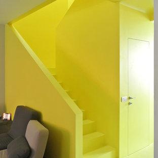Inspiration för en funkis trappa, med sättsteg i betong