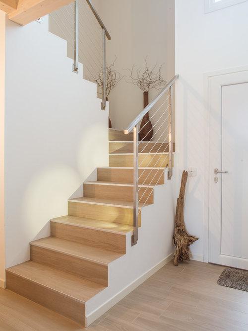 Foto e idee per scale scale moderne - Scale rivestite in legno per interni ...