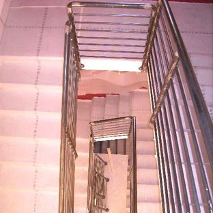 Inspiration for a contemporary staircase remodel in Other