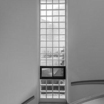 Scala a chiocciola in Palazzina residenziale in Salento, Pier Luigi Nervi