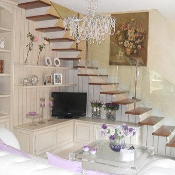 scala con arredo abitazione privata