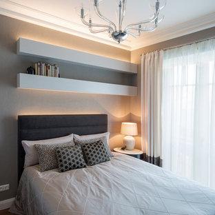 Camera da letto con pareti grigie Berlino - Foto e Idee per Arredare