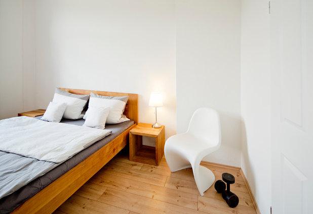 Industrial Bedroom by Julia Vogel Photography