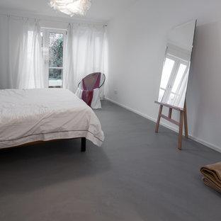 Chambre avec béton au sol Cologne : Photos et idées déco de chambres
