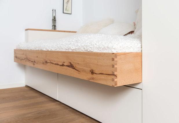 Modern Schlafzimmer Bettrahmen aus Lawinenholz