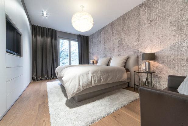 Modern Schlafzimmer by Katja Marocke INTERIOR + INTERIORDESIGNERSACADEMY