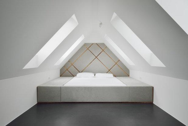 ein m nchner dachgeschoss mit ma einbauten und kupferfuge. Black Bedroom Furniture Sets. Home Design Ideas