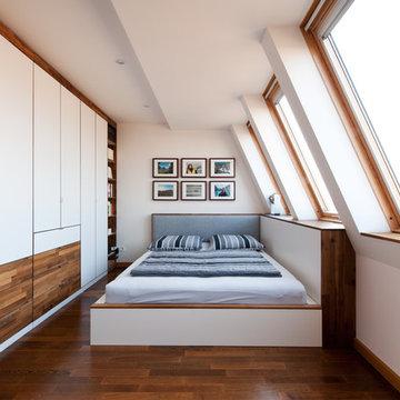Einbaumöblierung für Dachwohnung