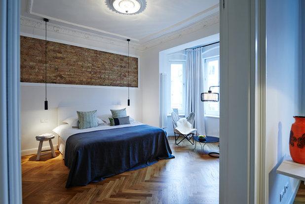 Effetto brooklyn come lasciare mattoni a vista e intonaco - Camera da letto originale ...