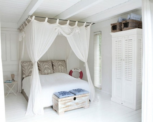 mittelgro e maritime schlafzimmer ideen design bilder houzz. Black Bedroom Furniture Sets. Home Design Ideas