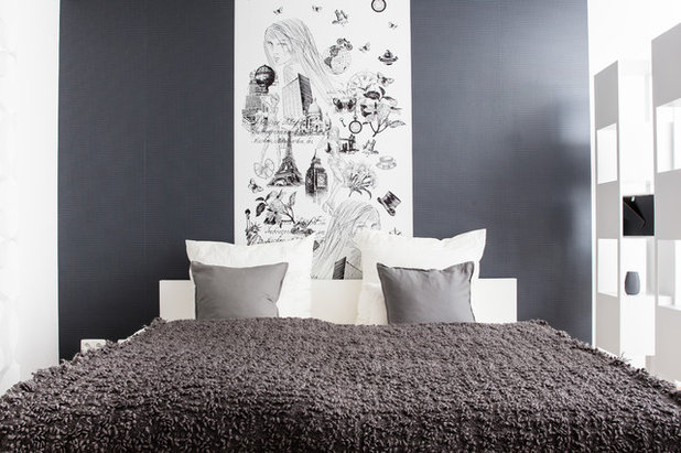 15 kreative ideen f r die wand hinter dem bett. Black Bedroom Furniture Sets. Home Design Ideas