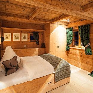 Landhausstil Schlafzimmer Mit Brauner Wandfarbe Ideen Design