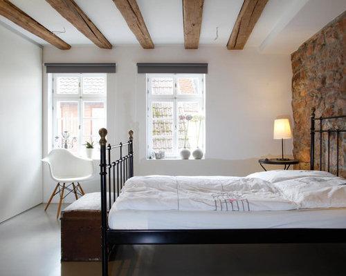 rustikale schlafzimmer  ideen  design  houzz