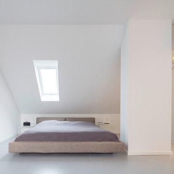 Schlafbereich in der Dachnische