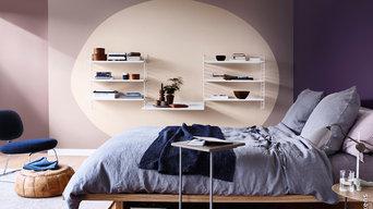 Schlafzimmer Farbgestaltung mit Sikkens Farben