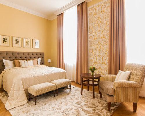 Große Schlafzimmer mit gelben Wänden - Ideen & Design | HOUZZ