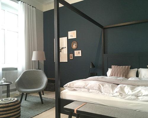Schlafzimmer mit schwarzer Wandfarbe Ideen, Design & Bilder | Houzz