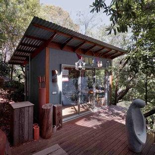 Freistehendes Eklektisches Gartenhaus als Arbeitsplatz, Studio oder Werkraum in Sydney
