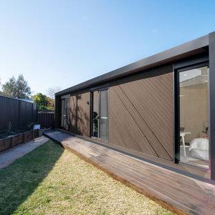 Idéer för ett mellanstort modernt fristående gästhus