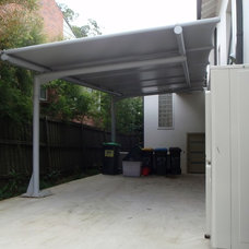 Contemporary Garage And Shed by Outrigger Awnings and Sails, Sydney