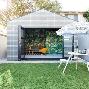Inspiration for a midcentury shed and granny flat in Sydney.