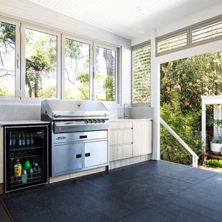 Photo of a small beach style detached granny flat in Sydney.