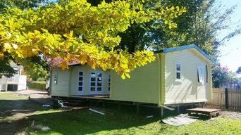 Twin backyard cabin as private martial arts studio in Armidale