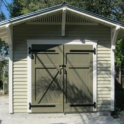 Craftsman Overhang Garage And Shed Design Ideas Pictures