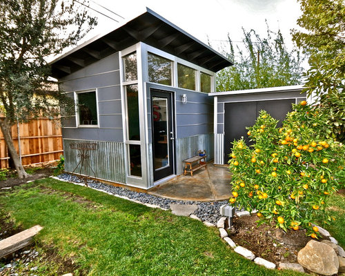 Storage Shed Guest House Houzz