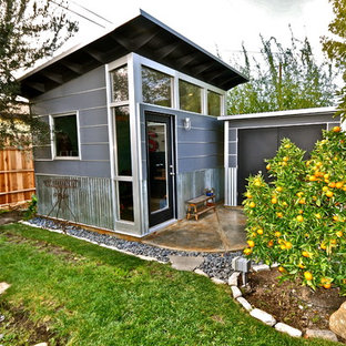 Studio / workshop shed - small contemporary detached studio / workshop shed idea in Los Angeles