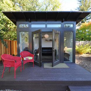 Inspiration for a modern detached guesthouse remodel in Denver